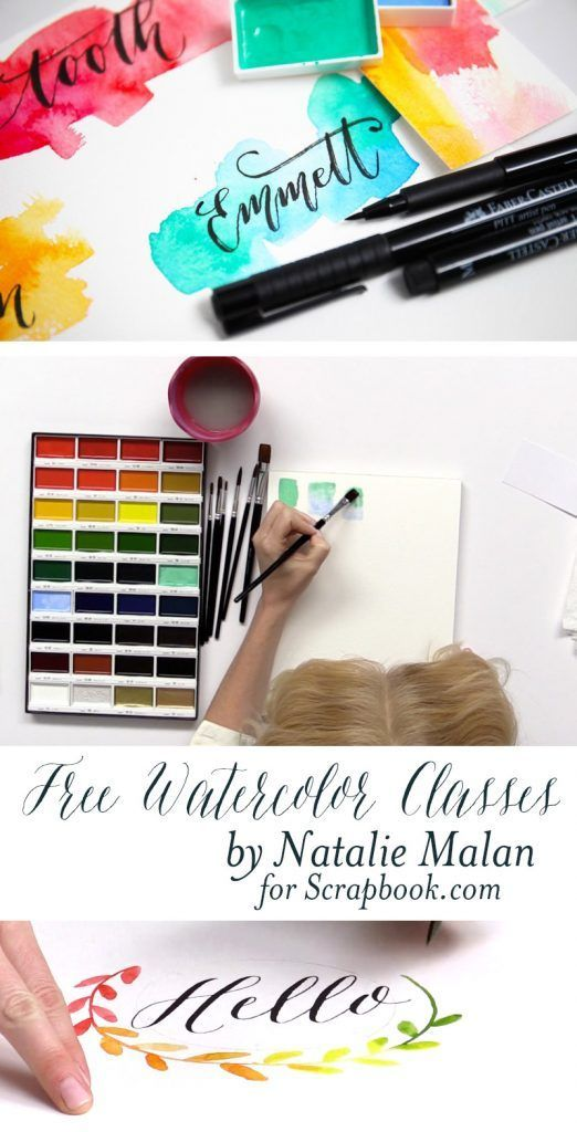 Free Watercolor Class With Natalie Malan For Http Scrapbook Com