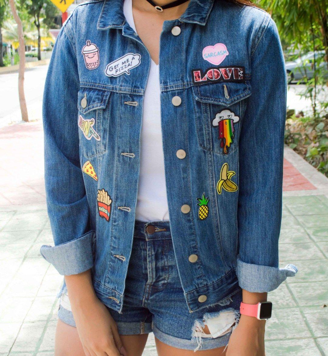 Clothes Chaqueta Pinterest Denim Parches Y pYw7qa