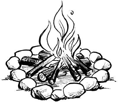 Camping Activities for Kids Camping drawing Fire
