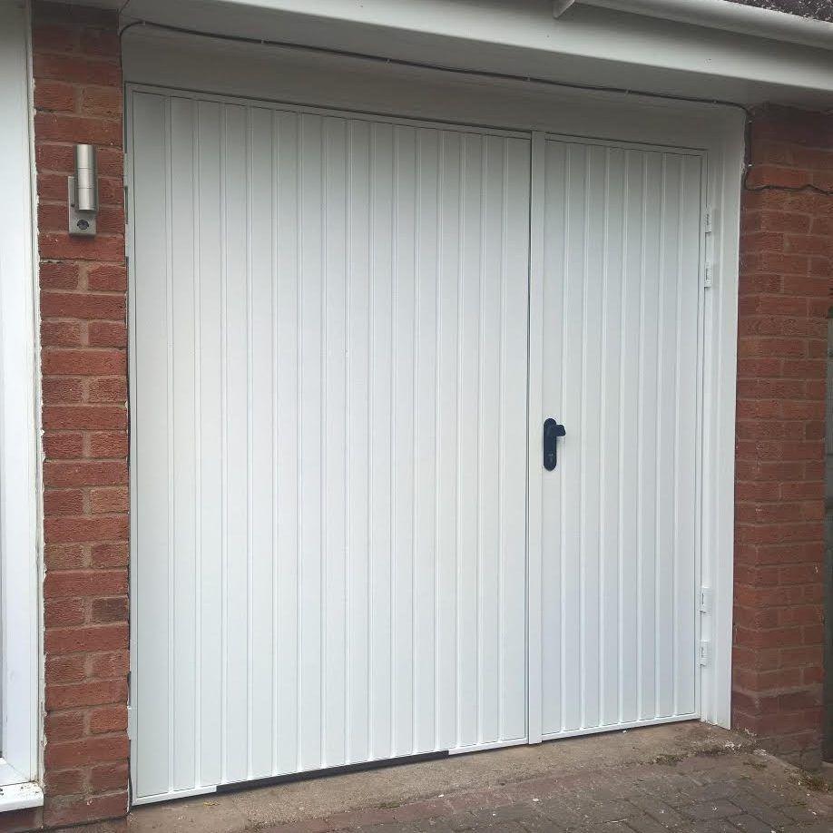 Side Hinged Garage Door 7030 Split Installed In Warwickshire