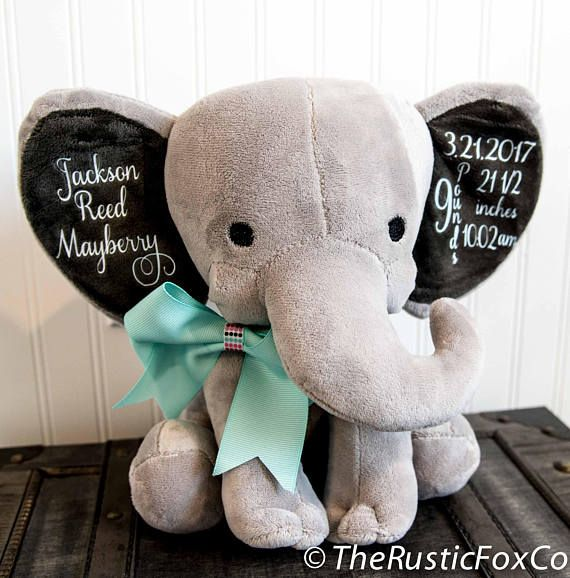 Personalised White Elephant Comforter With Soft Ears