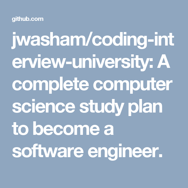 jwasham/coding-interview-university: A complete computer