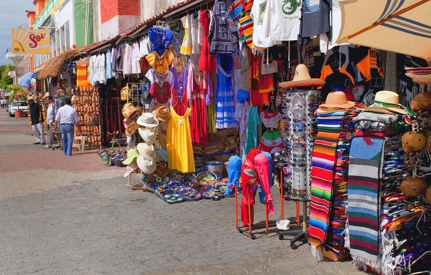 Playa Del Carmen Mexico June 2013 This Is 5th Ave In Playa Del