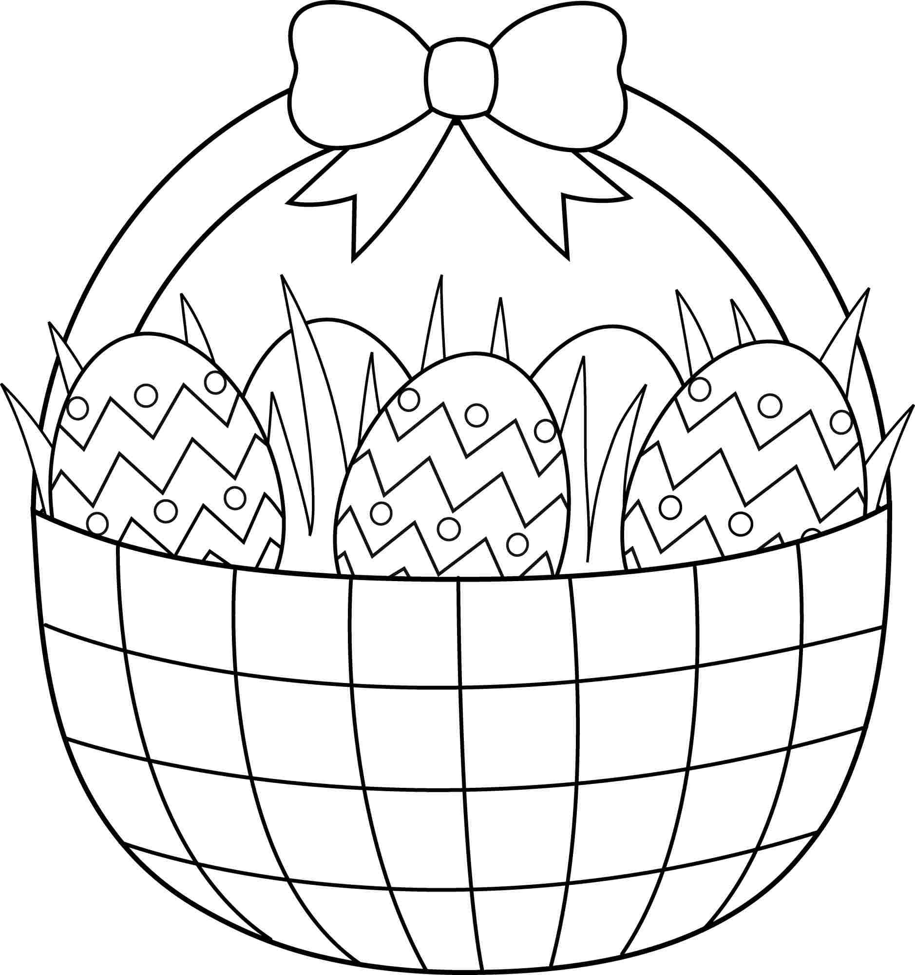 Easter basket coloring pages download and print for free | Easter ...