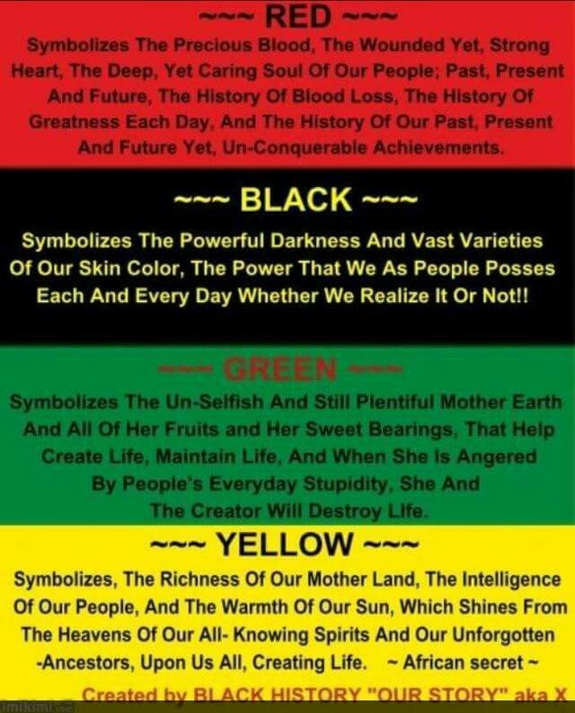 What These Colors Mean Within The African Community Black