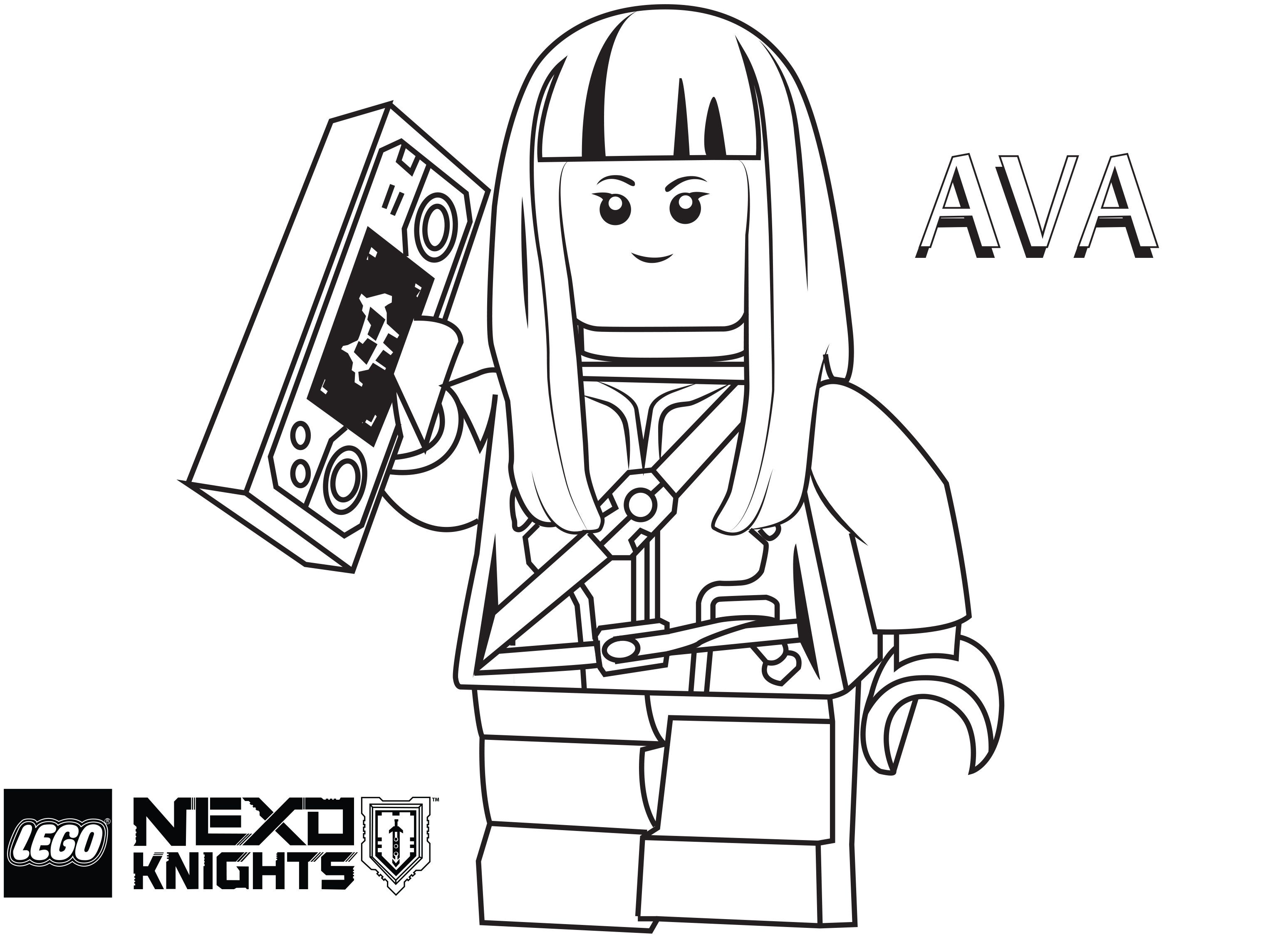 Salon De Hardin Lego Nexo Knights Coloring Pages : Free Printable Lego