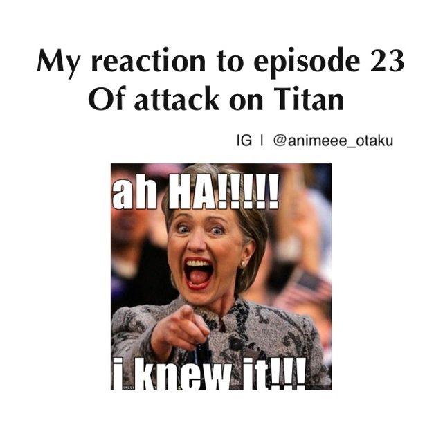 Attack on Titan episode 23 reaction   geek