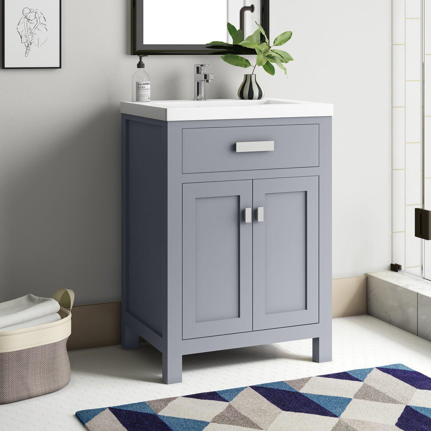 Zipcode Design Knighten 24 Single Bathroom Vanity Set Reviews Wayfair Small Bathroom Vanities Cheap Bathrooms Small Bathroom Makeover