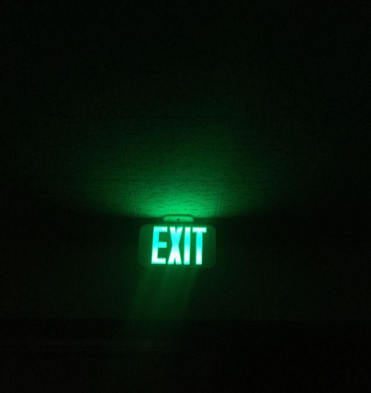 fun fact i found this green aesthetic tumblr grunge dark exit sign