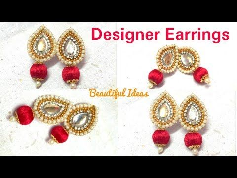 How To Make Silk Thread Designer Earrings Paper Making At Home Tutorial You