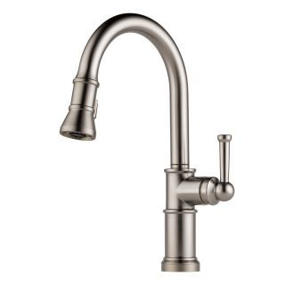Shop For The Brizo Brilliance Stainless Artesso Pull Down Kitchen Faucet  With Magnetic Docking Spray Head   Includes Lifetime Warranty And Save.