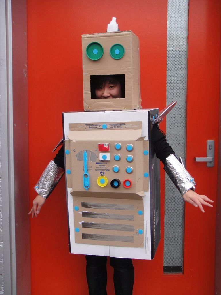 master maker jenny sporting her makedo robot costume makedo pinterest. Black Bedroom Furniture Sets. Home Design Ideas