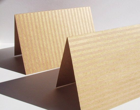 Kraft  Gold Note Cards - Kraft Stationery Thank You Notes, Gold