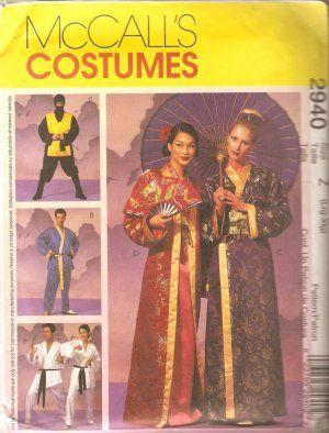 McCall/'s 2940 Costume Pattern Geisha Ninja Karate L-Xlg