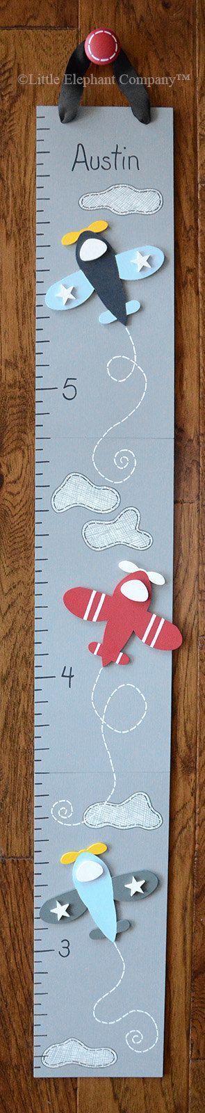 Vintage Airplane Wooden Growth Chart Handpainted Free Nail Etsy Wooden Growth Chart Growth Chart Personalized Growth Chart