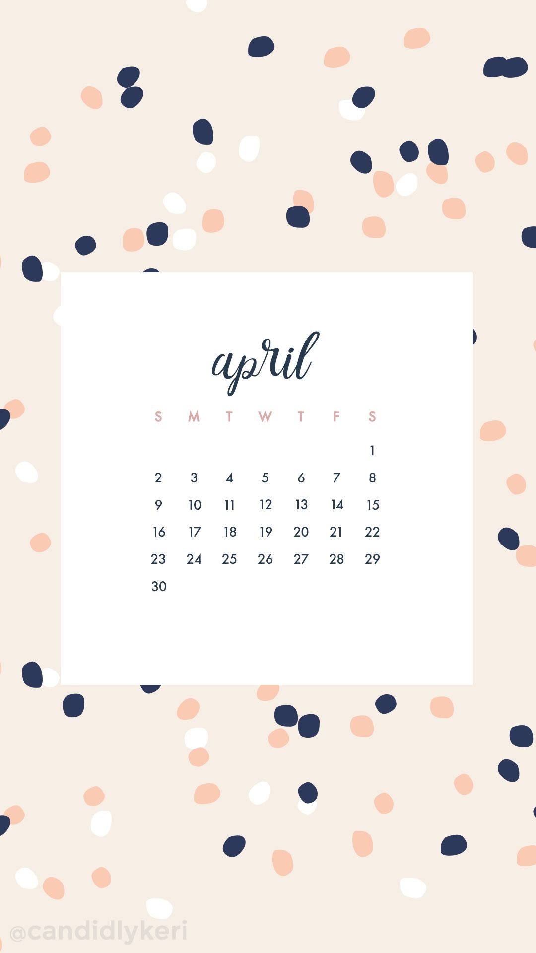 Calendar Wallpaper Iphone : April calendar wallpaper you can download for free on