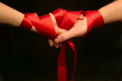 a beautiful handfasting ceremony