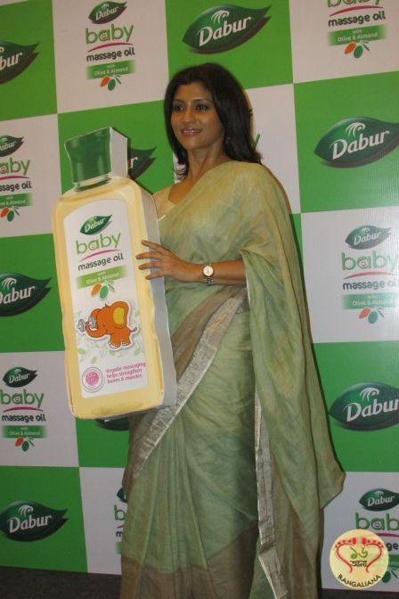 Actress Konkona Sen Sharma at launch of Dabur Baby Massage oil; The Actress Shin...