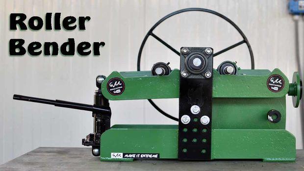 Homemade Roller Bender My Woodshop Metal Bending Tools Homemade Tools Metal Bender