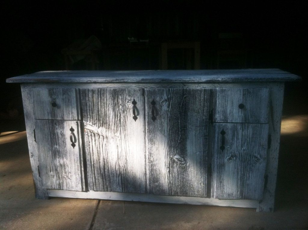 White-wash finishing is here! This entertainment center is ...