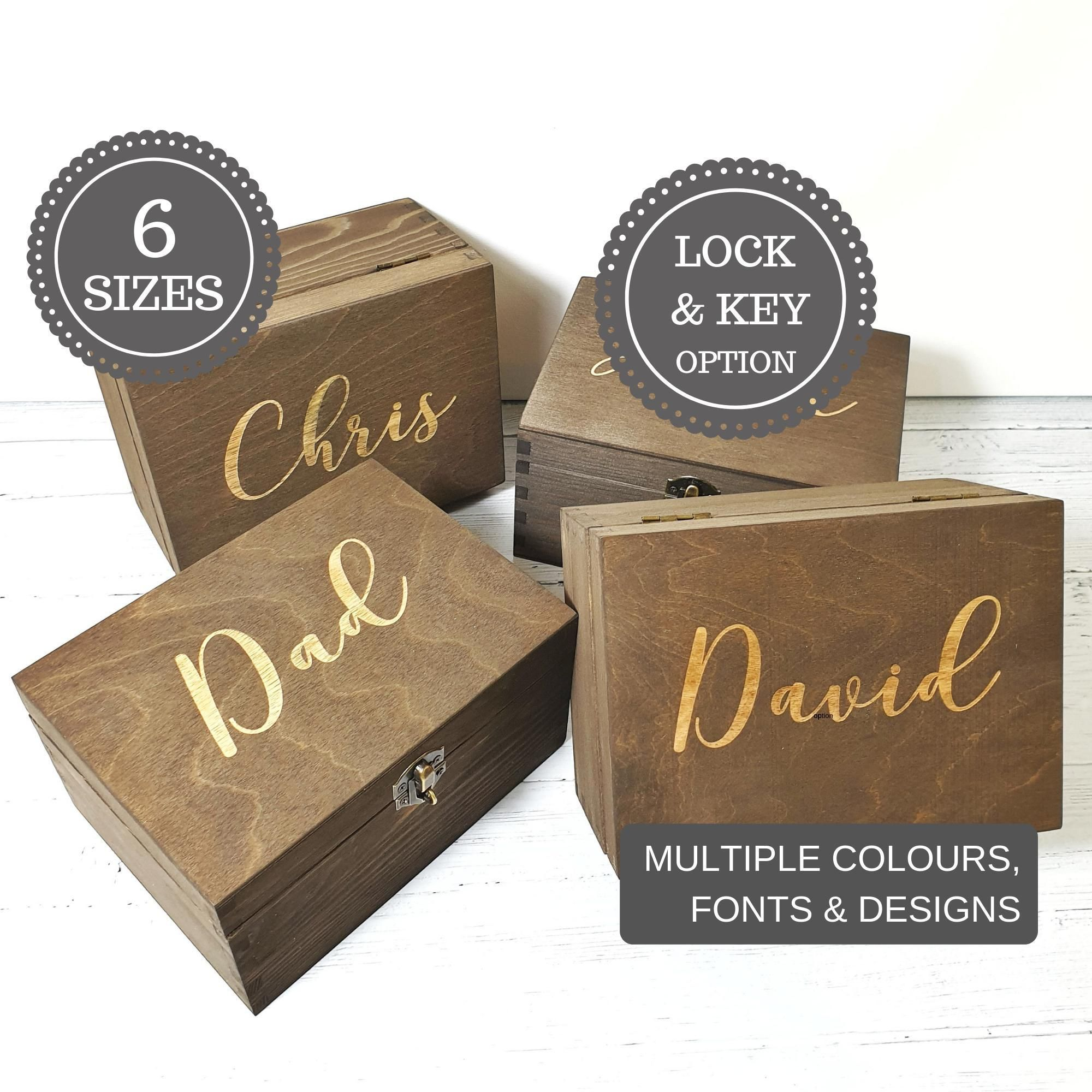 40th birthday gift for him i personalised wooden keepsake