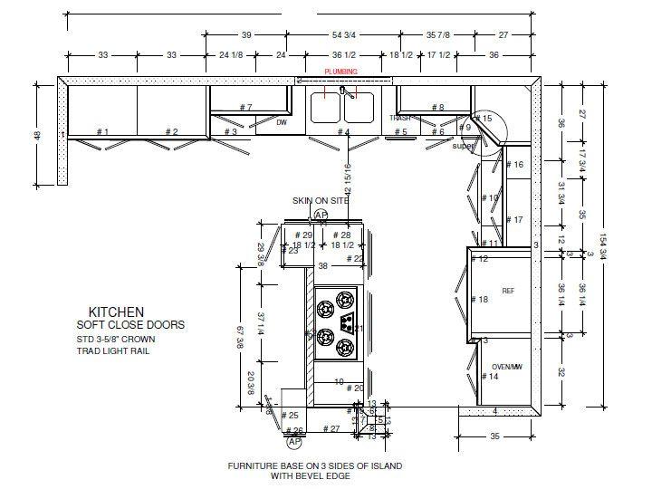 Cabinet Maker Kitchen Plan Recherche Google