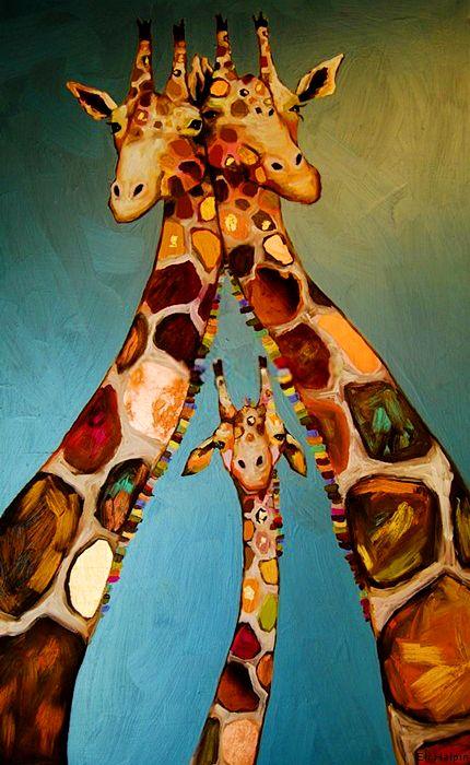 by Eli Halpin Giraffe Family