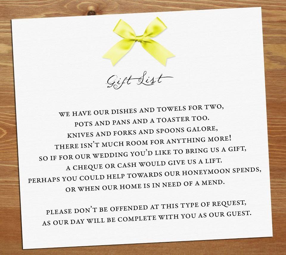 Baby Gift Poem : Wedding gift poem