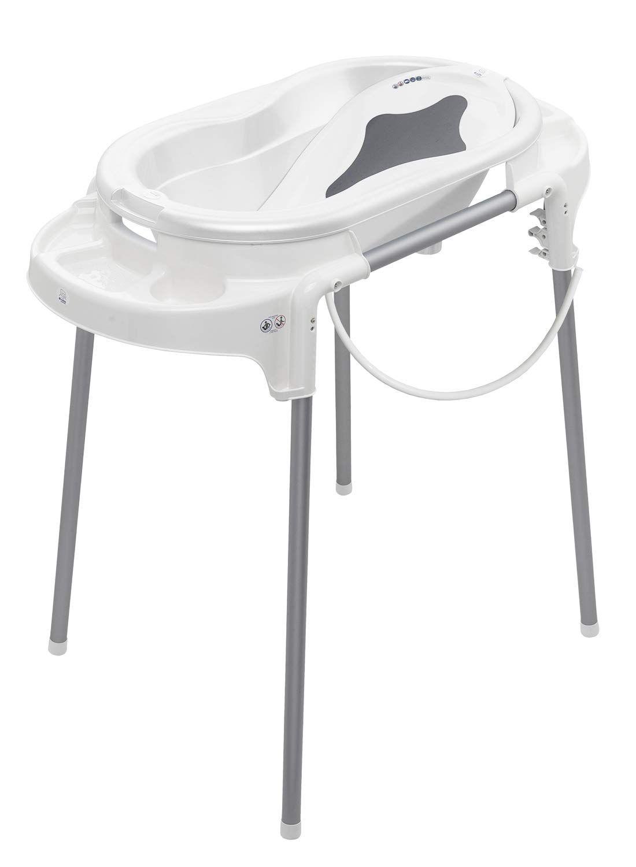 Rotho Babydesign Top Badestation Mit Baby Badewanne Wannenstander Wanneneinsatz Und Ablaufschlauch 0 12 Monate Weiss 21042 000 In 2020 Baby Design Badewanne Wanne