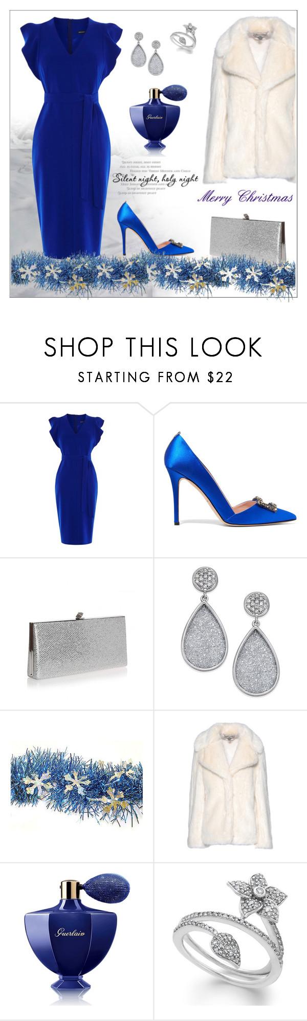 """BLUE DRESS!!!"" by kskafida ❤ liked on Polyvore featuring Karen Millen, SJP, Jimmy Choo, STELLA McCARTNEY and Guerlain"