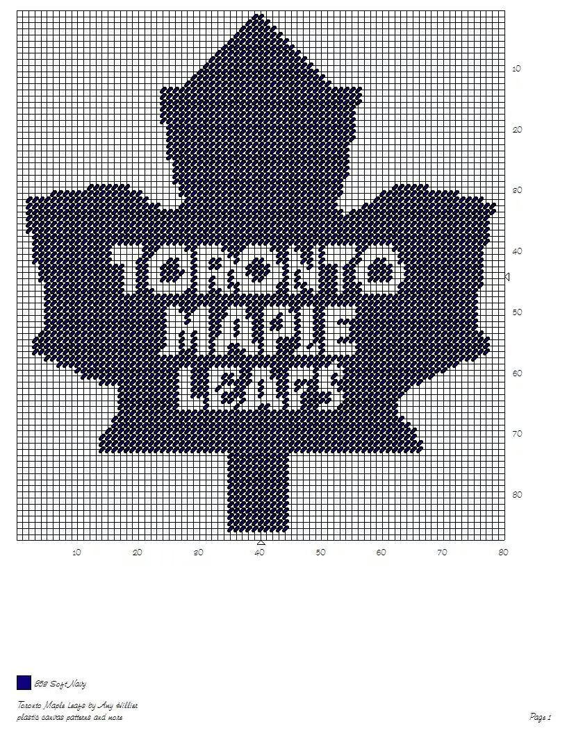 TORONTO MAPLE LEAFS by AMY HILLIER -- NHL WALL HANGING   Patterns ...