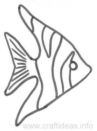 Craft Pattern Angel Fish Zach S 1st Birthday Fish