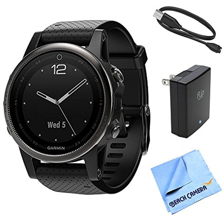 Garmin Fenix 5S Sapphire Multisport 42mm GPS Watch Black