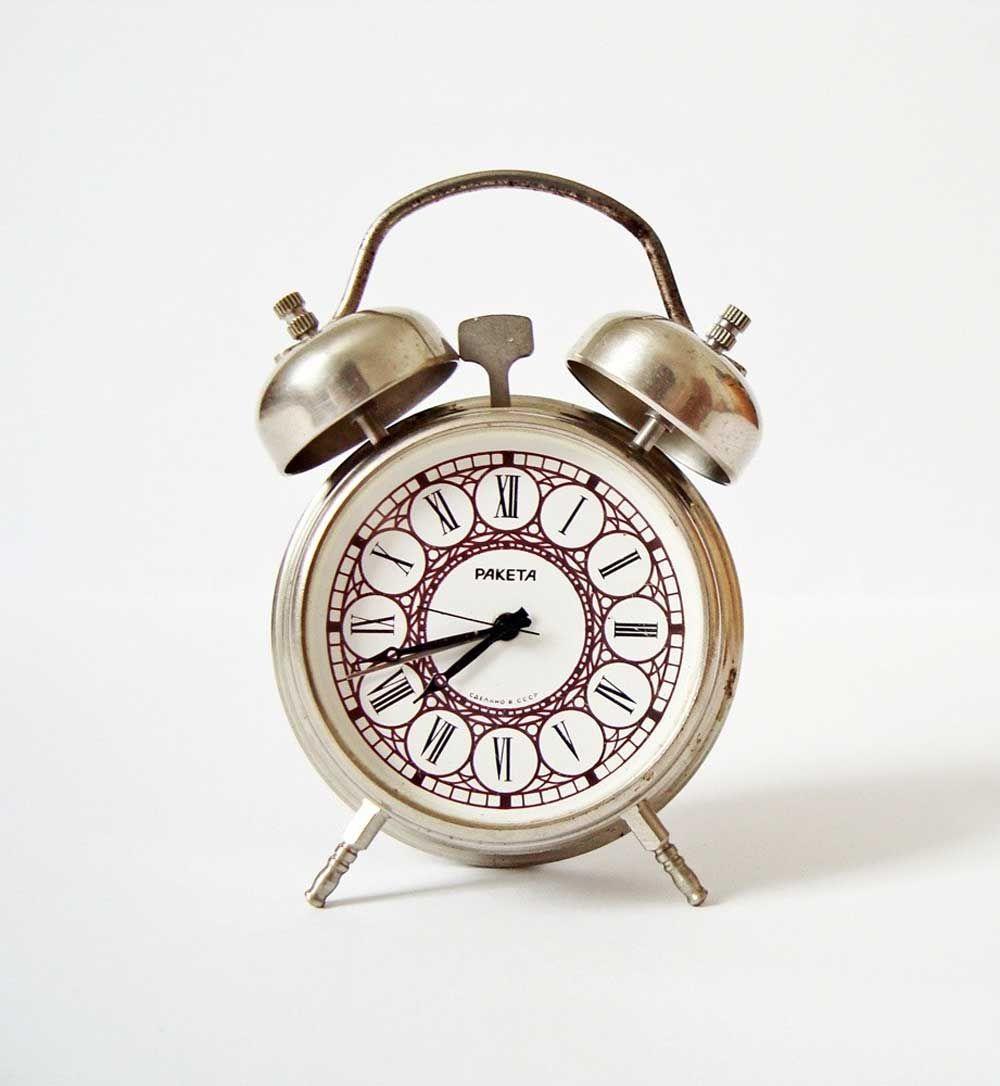 Raketa vintage russian mechanical alarm clock metal fashion raketa vintage russian mechanical alarm clock metal amipublicfo Images