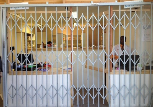 Folding Gate Made And Installed For A Local Pharmacy Www