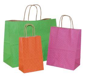 Pinstriped Kraft Bags 45% off #madeintheusa #shoppingbag #packaging