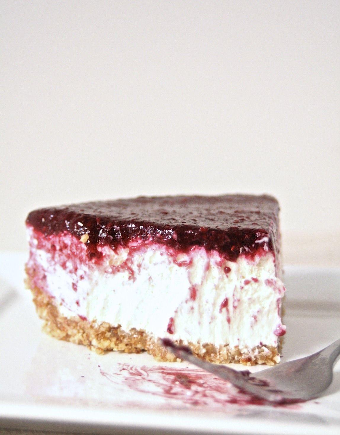 No Bake Greek Yogurt Berry Cheesecake Bare Root Girl Desserts Eat Dessert How Sweet Eats