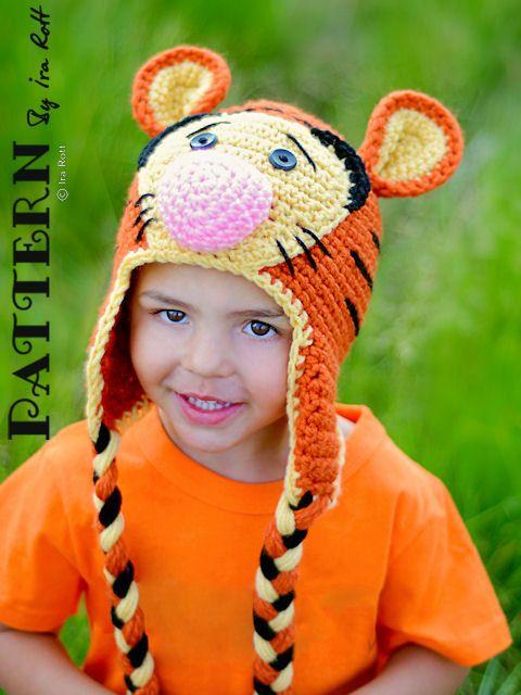 NEW PATTERN  Safari Tiger Hat  Crochet PDF by FashionPatterns, $6.50
