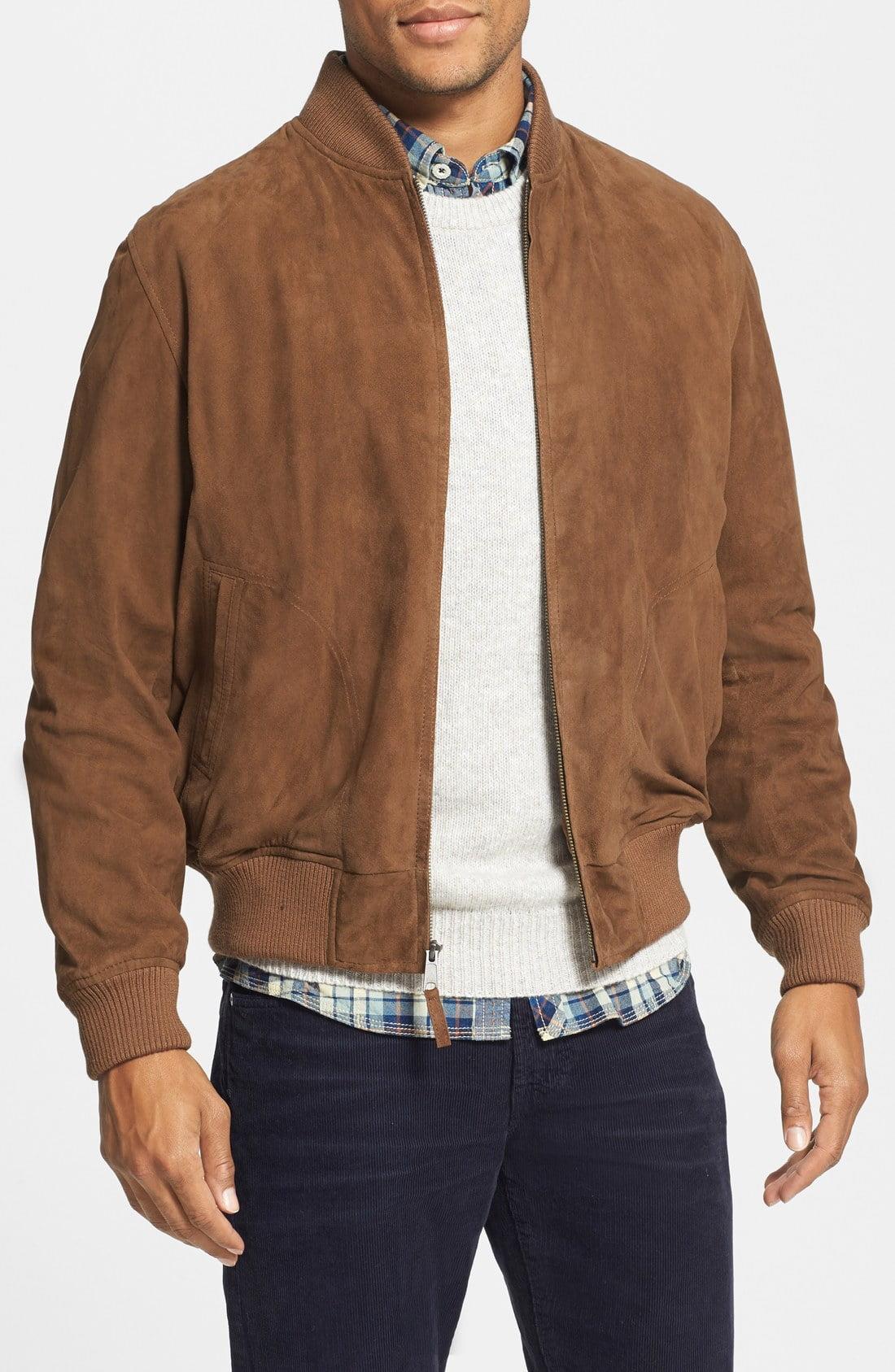 Golden Bear Suede Baseball Jacket Mens clothing styles