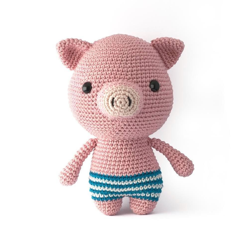 illie the Pig amigurumi pattern is now available in English, Dutch ...