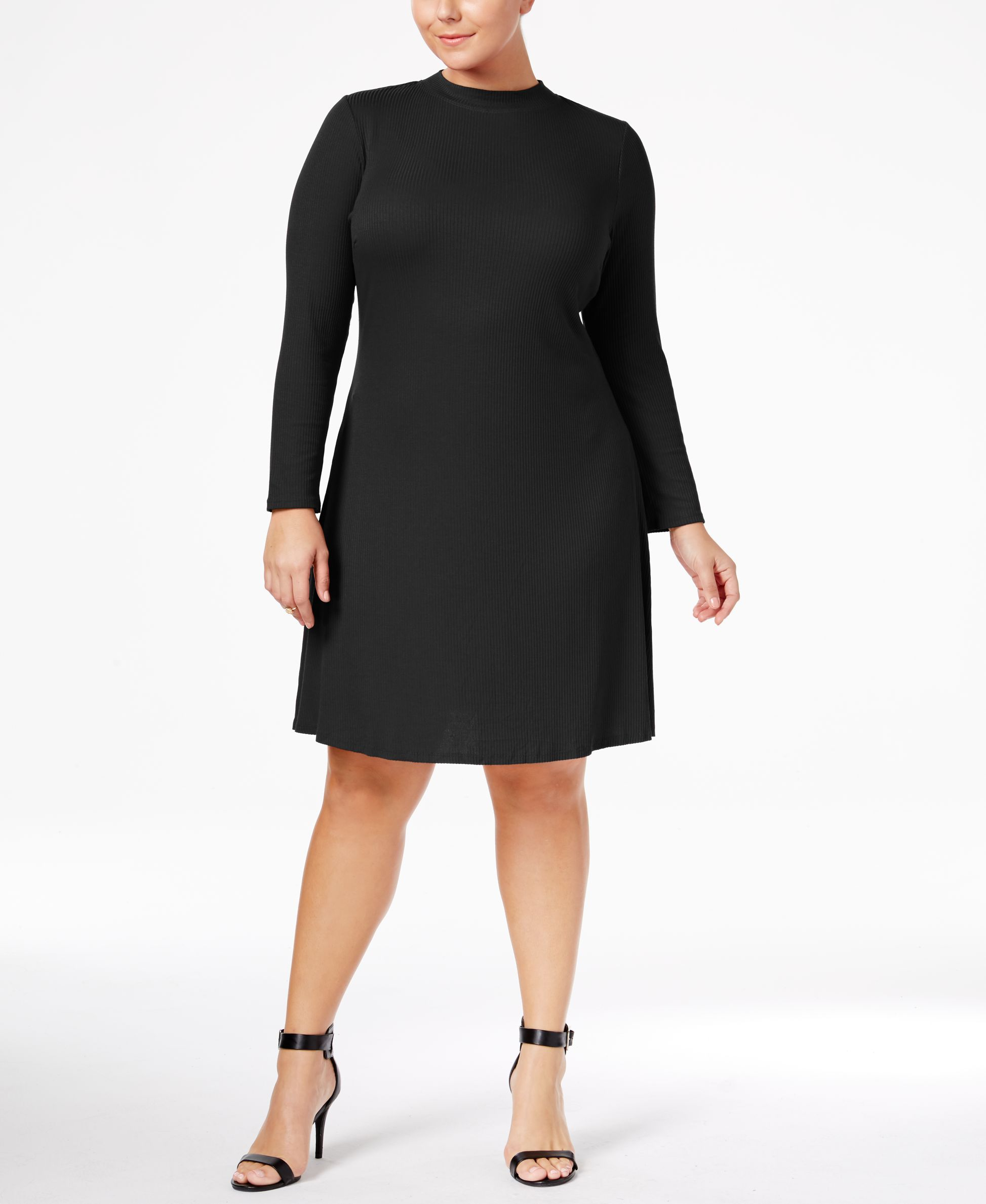 cac0103aea Love Squared Trendy Plus Size Mock-Neck Sweater Dress