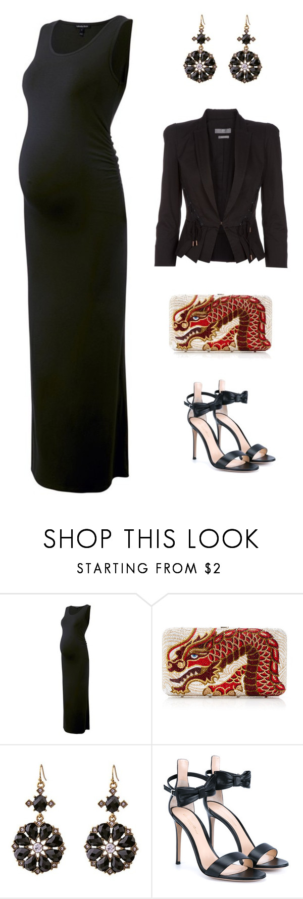 """""""Formal evening"""" by edith-a-giles ❤ liked on Polyvore featuring Isabella Oliver, Gianvito Rossi and McQ by Alexander McQueen"""
