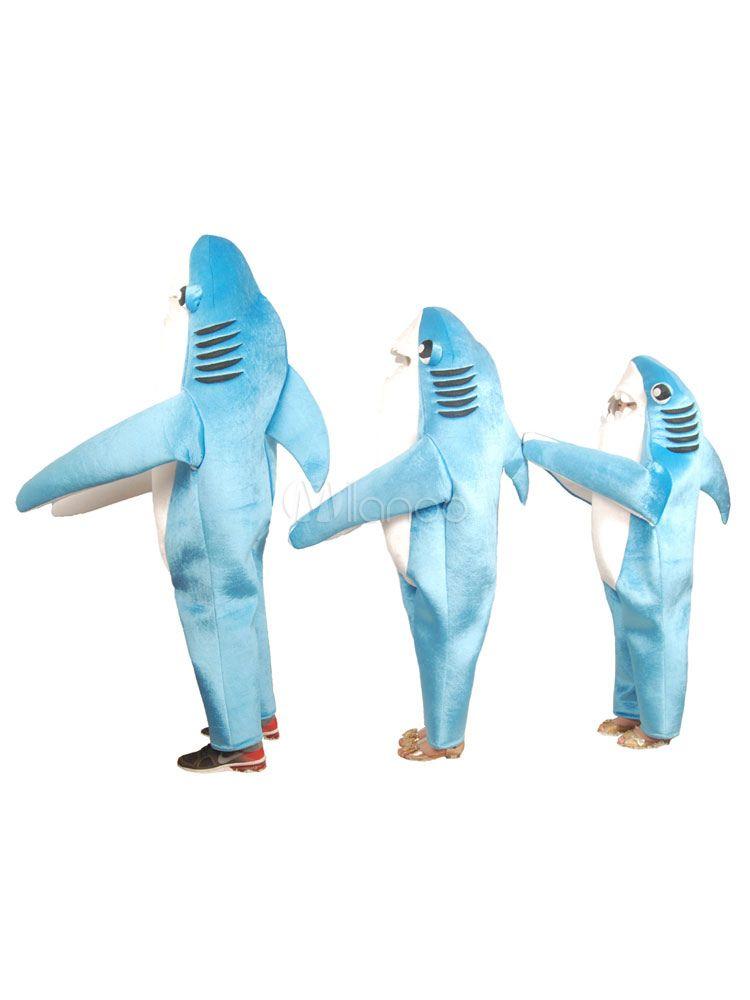 halloween shark costume blue velour jumpsuits for kids. Black Bedroom Furniture Sets. Home Design Ideas
