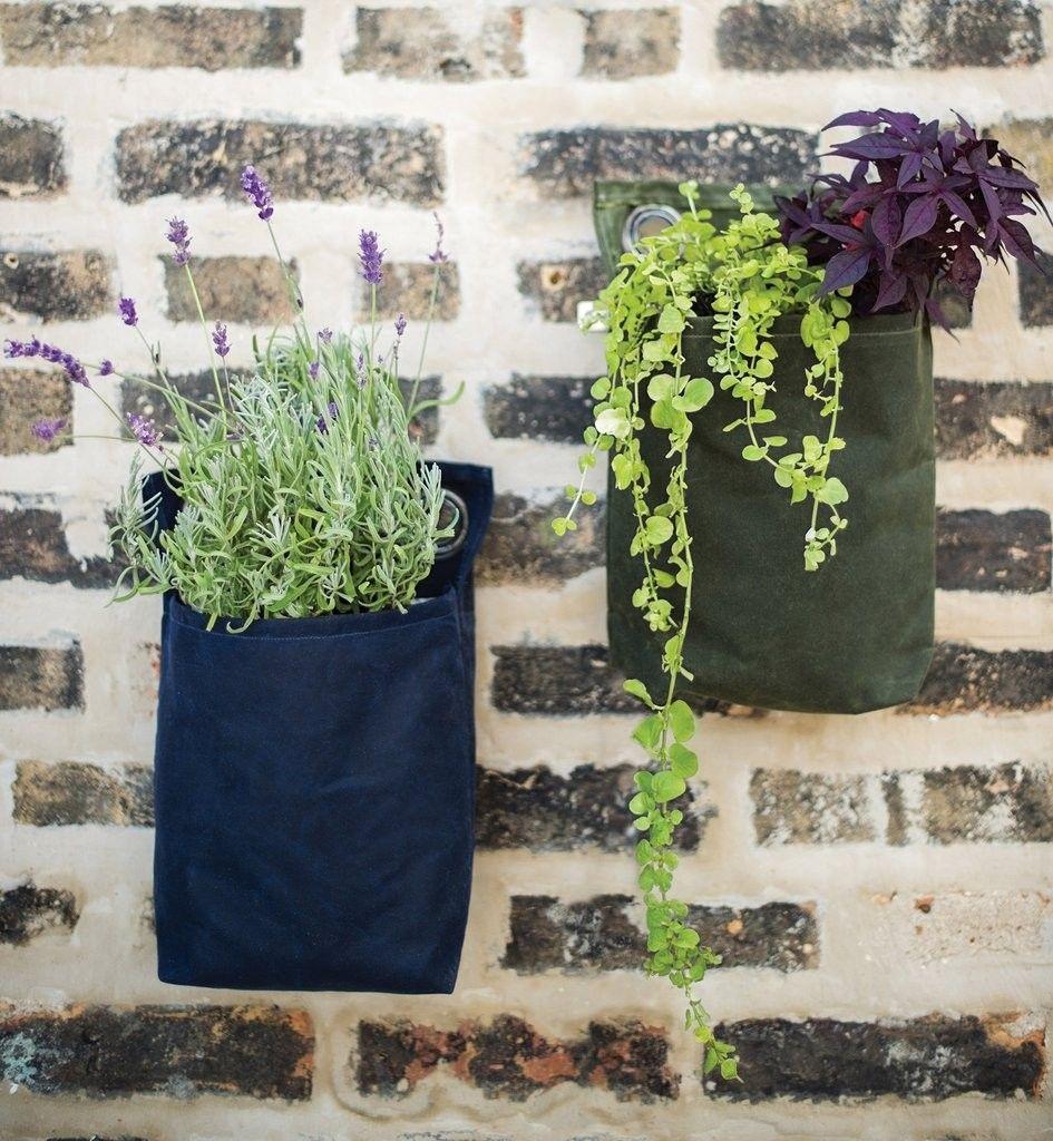 Waxed Canvas Growpack Small Modern Sprout Small Space Gardening Mason Jar Garden Waxed Canvas
