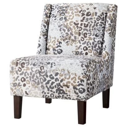 Skyline Armless Upholstered Chair Hayden Armless Chair Leopard