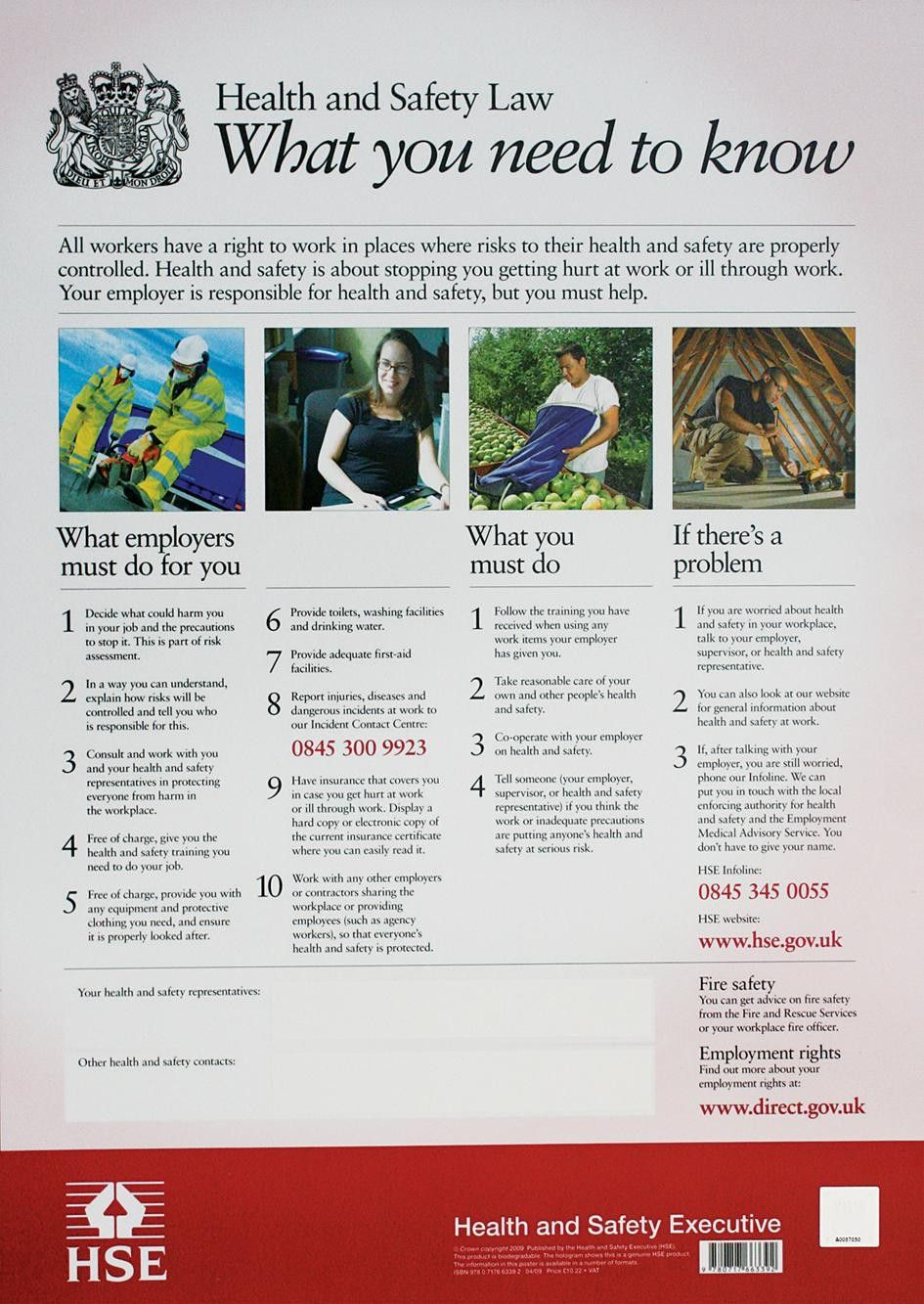 Health and Safety Law Poster Semi Rigid £12.95 Health