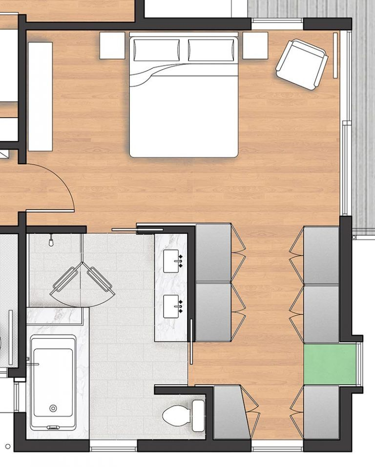 The Walk Through Closet In This Master Bedroom Leads To A Luxurious Bathroom In 2020 Master Bedroom Plans Master Bedroom Bathroom Master Bedroom Layout