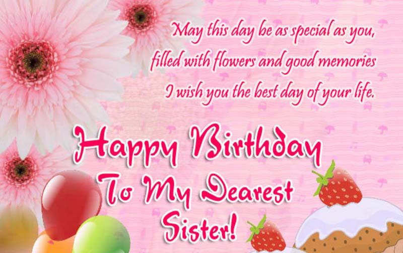 Birthday Wishes For Sister Happy Birthday Wishes