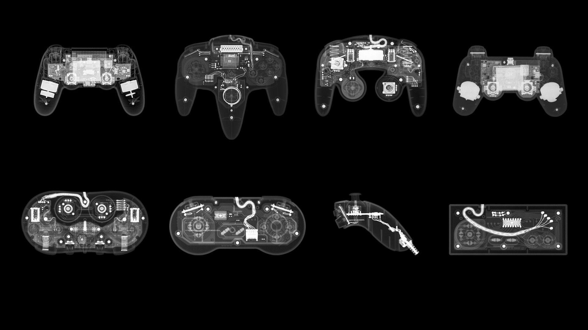 Gaming controllers wallpaper