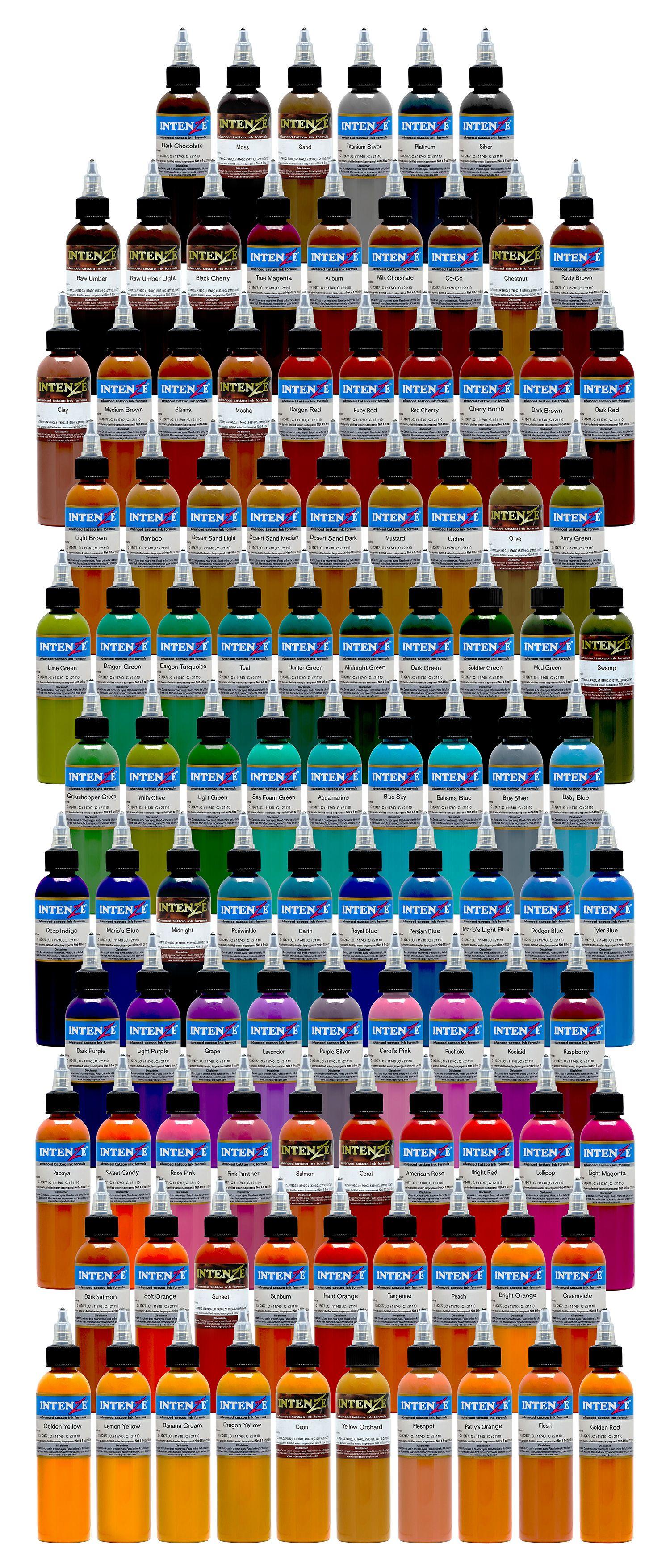 101 color tattoo ink set intenze tattoo ink tattoo ink